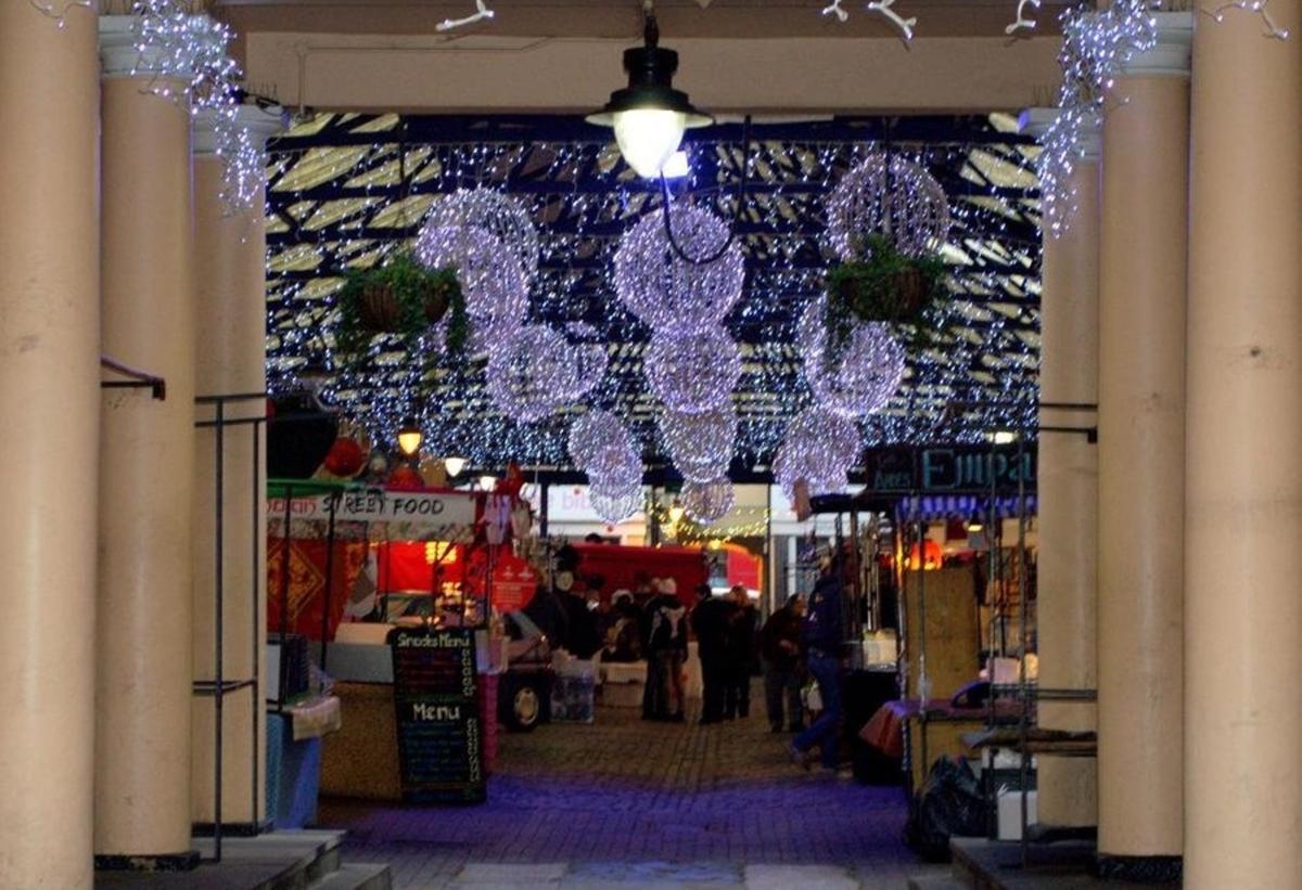 Greenwich Market xmas lights