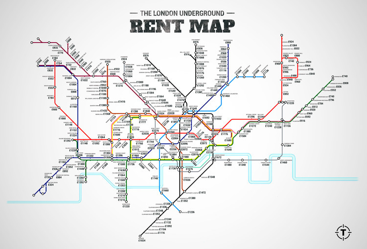 Renting in London map