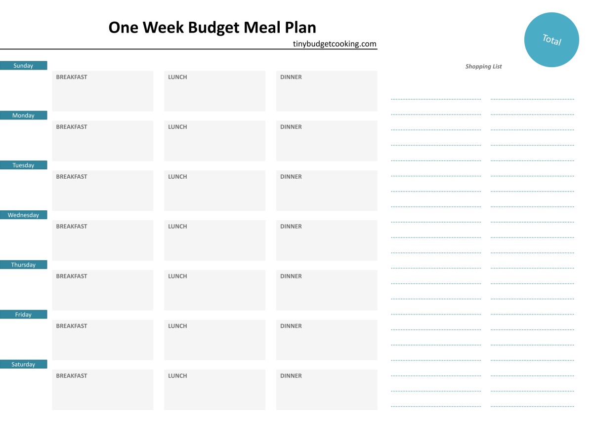 A super Guide to Budget Meal Planning