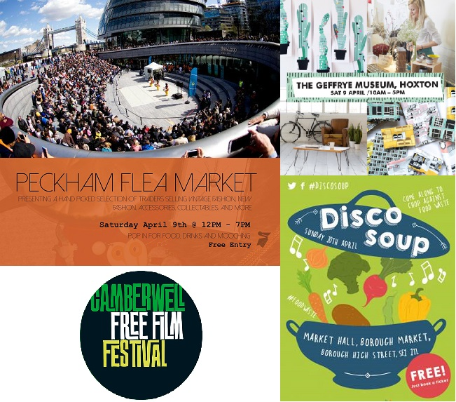 Top 5 Free Events in London this Weekend 8-10 April 2016