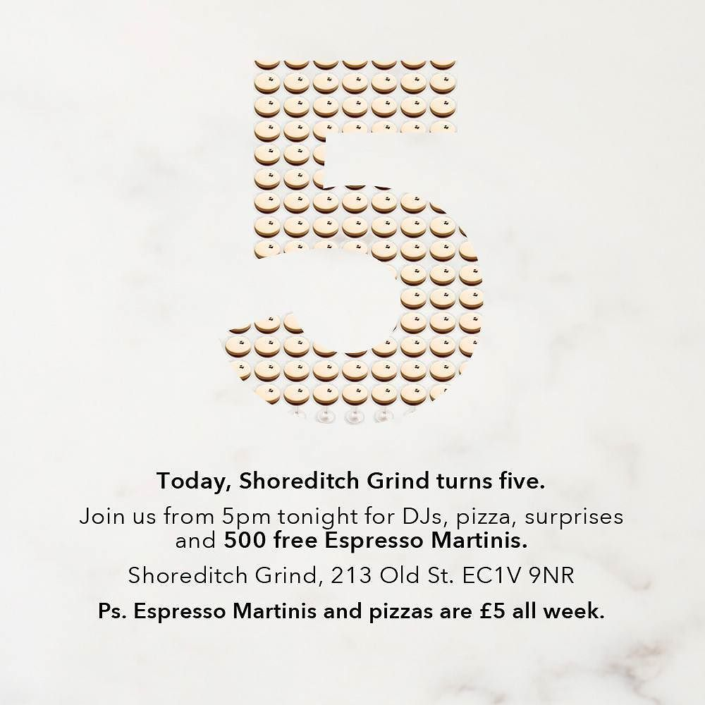 FREE Espresso Martinis At Shoreditch Grind!