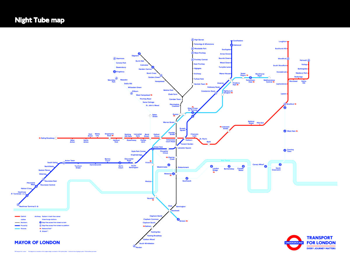 The next part of the Night Tube is unveiled