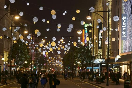 Oxford Street Christmas Lights (How they looked last year!) ©Evening Standard