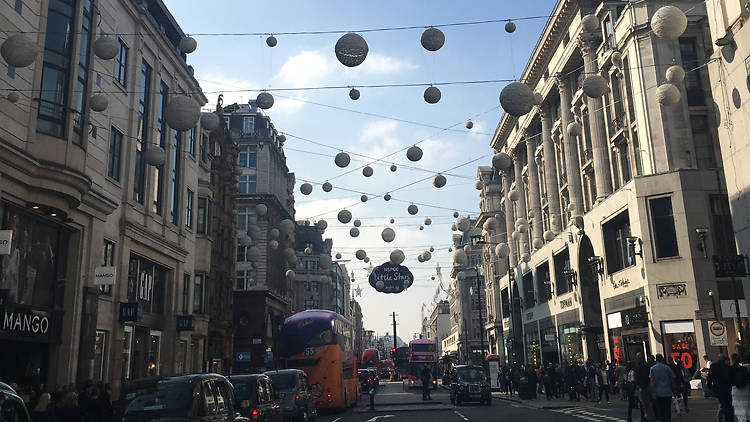 The Christmas lights are already up on Oxford Street!