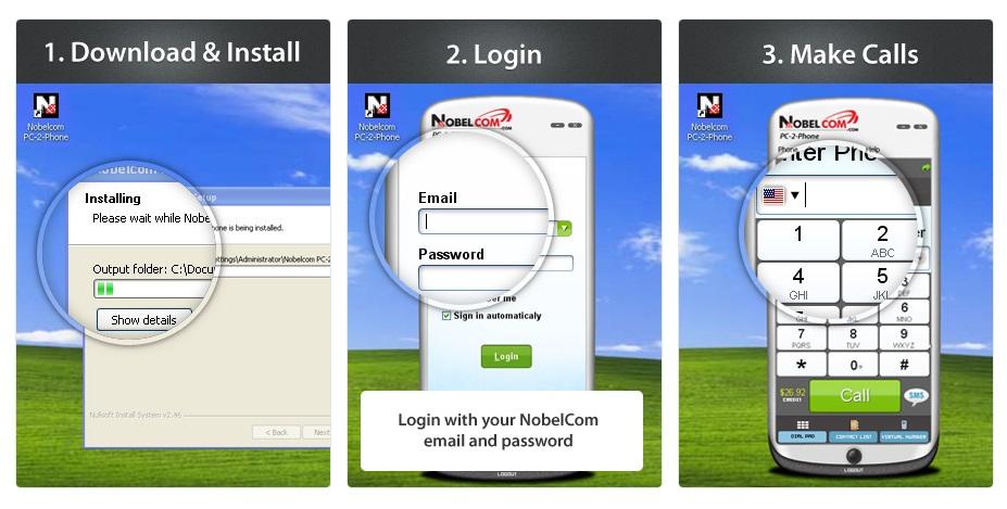 NobelCom Virtual PC app ©NobelCom.com
