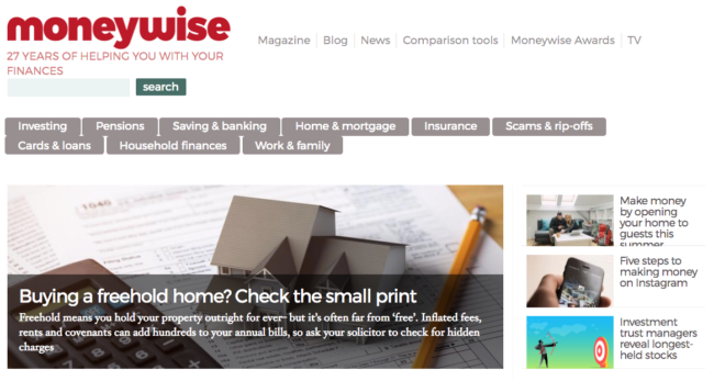 moneywise.co.uk - British Money and Financial Blogs You Should Be Reading